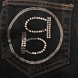 Bebe rhinestone logo jeans size 25 Gorgeous bling!